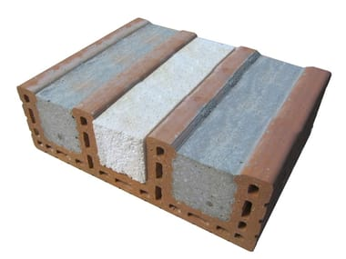 Loadbearing clay block for reinforced masonry Architrave coibentato Porotherm