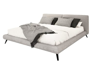 Fabric double bed with upholstered headboard ARCO