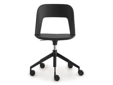 Height-adjustable fabric office chair with castors ARCO | Height-adjustable office chair