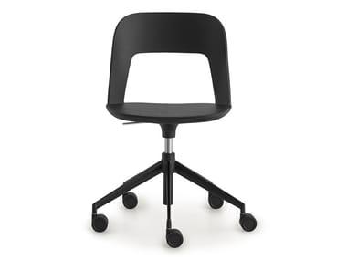 Cadeira operativa ajustável em altura de tecido com rodízios ARCO | Cadeira operativa ajustável em altura