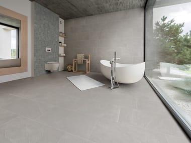 Pavimento in gres porcellanato effetto pietra per interni ed esterni ARDESIA BIANCO
