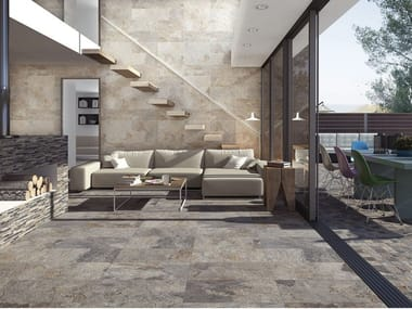 Glazed porcelain stoneware wall/floor tiles with stone effect ARDESIA