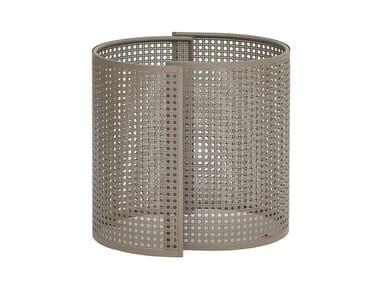Vaso da giardino basso in acciaio zincato ARENA   Vaso da giardino