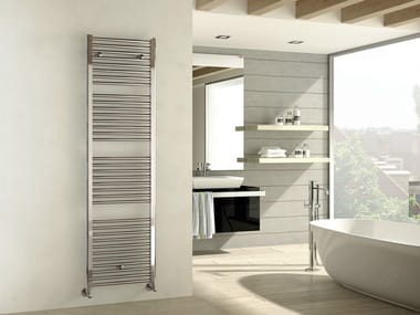 Chrome wall-mounted chrome plated steel decorative radiator ARES | Chrome decorative radiator