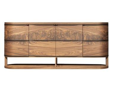 Wood veneer sideboard with doors ARIA | Sideboard