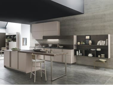 Linear kitchen with integrated handles ARKÈ | Linear kitchen