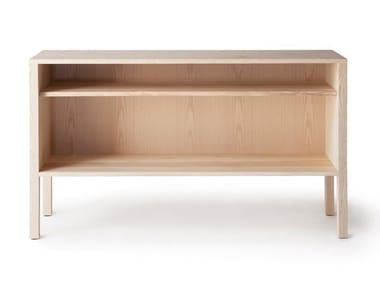 Open low solid wood cabinet ARKITECTURE | Open bookcase
