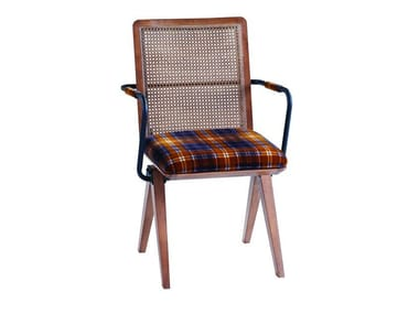 Wooden chair with armrests ARMAND