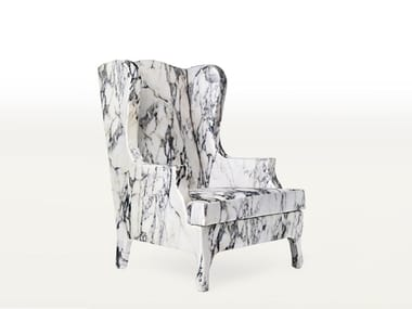 Wing high-back fabric armchair LOUIS XV GOES TO SPARTA | Armchair
