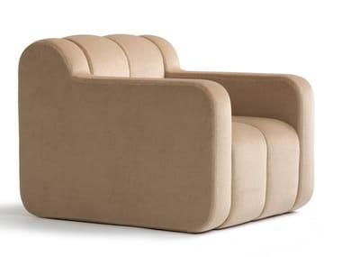 Fabric armchair with armrests BOB HOME | Armchair
