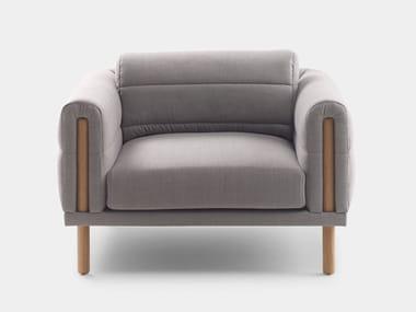 Fabric armchair with armrests ABRIC | Armchair