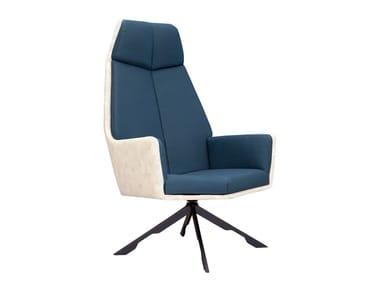 Drehbarer Sessel auf fixem Fußgestell mit Armlehnen RAMA | Sessel