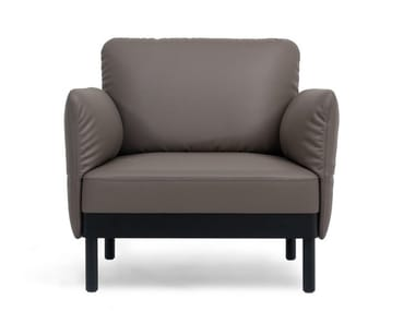 Leather armchair with armrests DS-840 | Armchair
