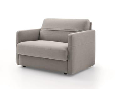 Fabric armchair with armrests FRANK | Armchair