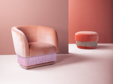 Armchair with armrests LA FOLIE | Armchair