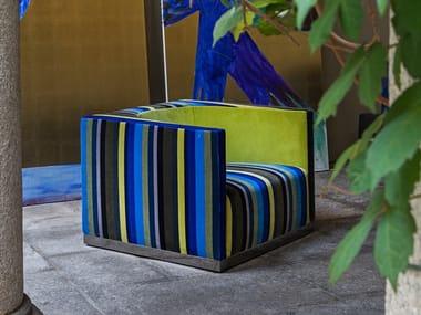 Fabric armchair with armrests EROS | Armchair