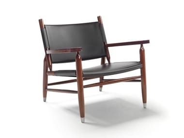 Tanned leather armchair with armrests TESSA S.H.   Armchair
