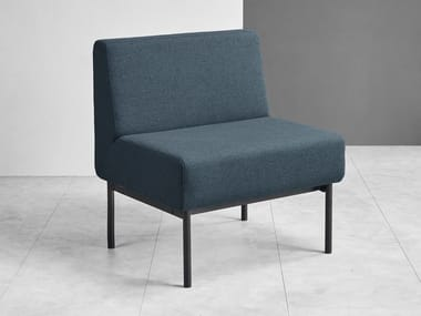 Fabric armchair and powder-coated steel base MODO S | Armchair