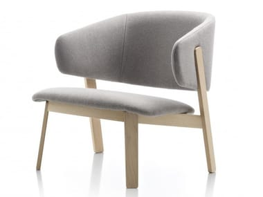 Oak armchair with armrests WOLFGANG | Armchair