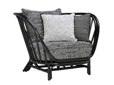 Rattan armchair with armrests KYOTO   Armchair