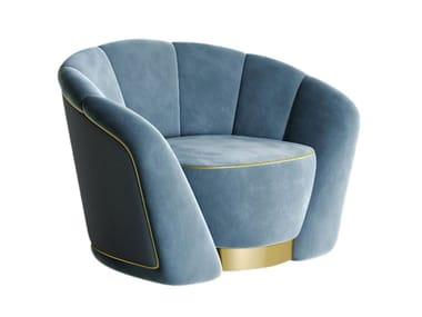 Fabric armchair with armrests FAITH | Armchair