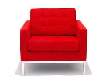 Tufted armchair with armrests FLORENCE KNOLL LOUNGE | Armchair