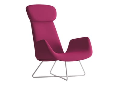 Armchair with armrests with headrest MYPLACE   Armchair with armrests