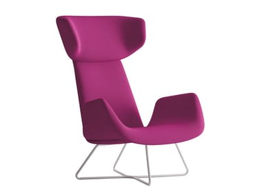 Wing armchair with armrests MYPLACE   Wing armchair