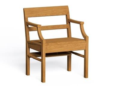 Poltrona in legno con braccioli CHARTERHOUSE | Poltrona