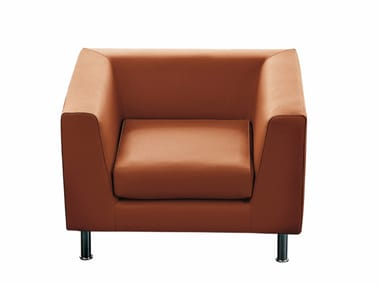 Armchair with armrests CUBE | Armchair