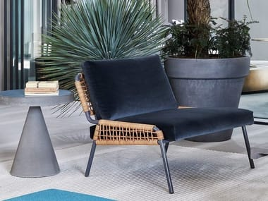 Armchair with removable cover ZOE
