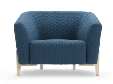 Fabric armchair with armrests YOUNG | Armchair