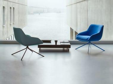 Sessel aus Stoff mit Armlehnen BLUE | Sessel