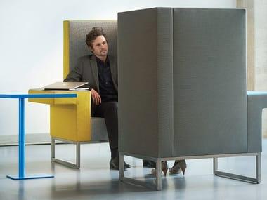 Gepolsterter Sessel aus Stoff im modernen Stil mit Armlehnen mit hoher Rückenlehne BRICKS WORKCHAIR