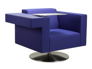 Drehbarer Sessel aus Stoff mit Armlehnen BRICKS WORKCHAIR SWIVEL