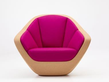 Cork armchair with armrests CORQUES   Armchair
