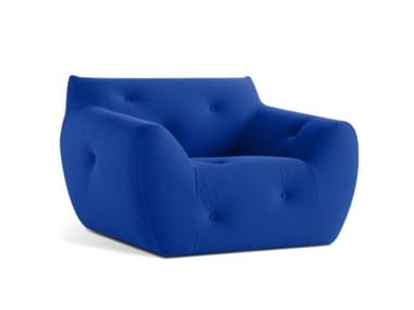 Fabric armchair with armrests INFORMEL | Armchair