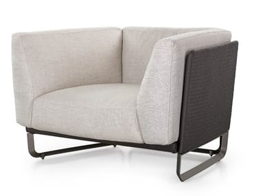 Armchair with armrests MILANO | Armchair