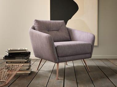 Fabric armchair with armrests DUKE | Armchair