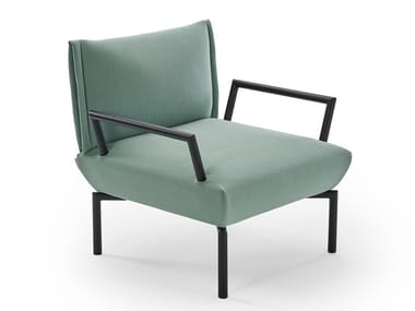 Fabric armchair with armrests CLICK | Armchair with armrests