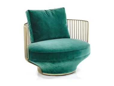 Fabric armchair PARADISE BIRD | Armchair