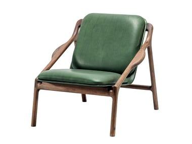 Upholstered leather armchair MARSHALL | Armchair