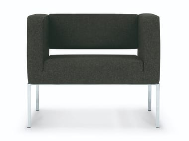 Fabric armchair with armrests RILASSO | Armchair