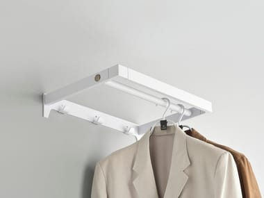 Wall-mounted powder coated steel office coat rack ARNAGE | Wall-mounted coat rack