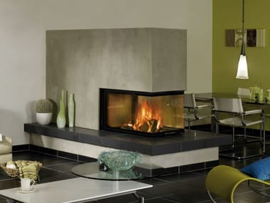 Double-sided Wood-burning Fireplace insert ARTE U-90H