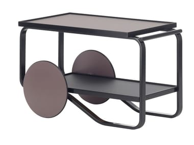 Birch food trolley ARTEK - 901 TEA TROLLEY Black