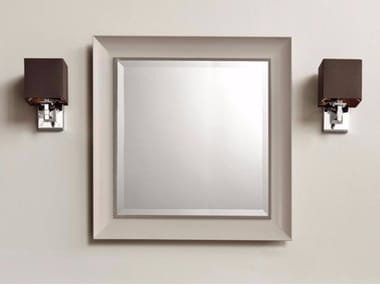 Square wall-mounted framed mirror ARUM