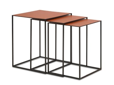 Leather Side Table ASCOT JR T938 (SET)