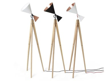 Floor lamp in aluminum and ash LIGHT TALE | Ash floor lamp