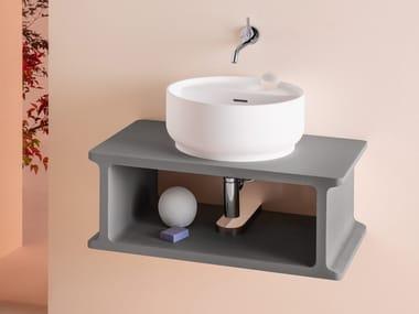 Mobile lavabo singolo sospeso in frassino BEAM   Mobile lavabo in frassino